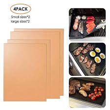 <b>Non</b>-<b>stick</b> and <b>Heat Resistant</b> Mats for Charcoal AOLVO <b>BBQ Mat</b> ...