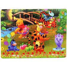 <b>Free shipping</b> Kids Classic 60 pieces <b>wooden</b> puzzle <b>cartoon</b> ...