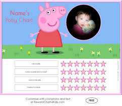 peppa pig potty training charts potty training · customise · sticker chart