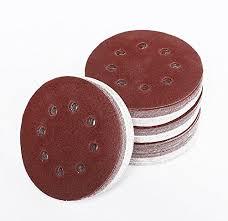<b>20pcs 5 Inch 125mm</b> Round Sandpaper w Eig- Buy Online in ...