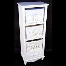 white storage unit wicker: pleasant shabby chic bedsidelamp table wicker basket storage unit white coffee bedside lamp storage