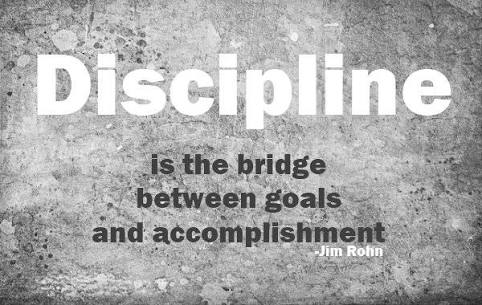 discipline; a prerequisite for success
