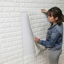 DIY <b>Self Adhesive</b> 3D <b>Wall</b> Stickers Bedroom <b>Decor</b> Foam Brick ...