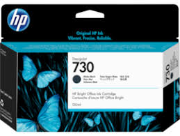 <b>HP 730</b> 130-ml <b>Matte</b> Black <b>DesignJet</b> Ink Cartridge, P2V65A ...