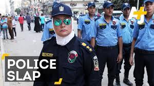 female ian police officer slaps alleged harasser female ian police officer slaps alleged harasser