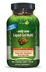 <b>Only One Liquid-Gel Multi</b>® with Iron - Multi Vitamin by Irwin Naturals