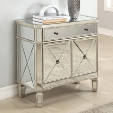 Mirrored Furniture Bedroom Sets Set Of 2 Glam Mirrored Mirror Furniture Dresser Bedroom Chest
