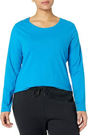 JUST MY SIZE Women's <b>Plus Size Long Sleeve</b> Tee at Amazon ...