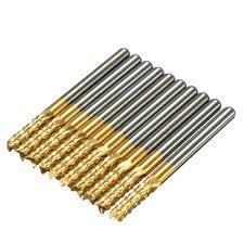 drillpro db-m6 <b>10pcs 3.175mm</b> titanium coated carbide end mill ...