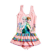 Children <b>Swimsuit</b> Cosplay <b>Elsa Anna</b> Print Swim Skirt Kids <b>Bathing</b> ...