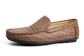 Albertini <b>Mens</b> Slip On <b>Crocodile Pattern Loafers</b> Driving <b>Shoes</b> ...