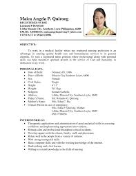 sample resume abroad for nurses create professional resumes sample resume abroad for nurses nursing resume templates registered nurse rn sample resume for filipino