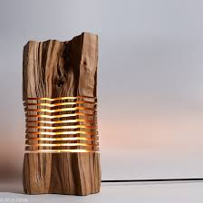 Sliced Sculpture <b>Lamps</b> Highlight the Natural <b>Beauty</b> of Firewood