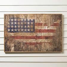 birch lane american flag wooden print rustic charm meets patriotic flair in this tasteful american arts crafts rustic charm