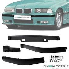 <b>4</b>-<b>Pcs Front</b> Bumper Black Mouldings Panels Trims fits on BMW E36 ...