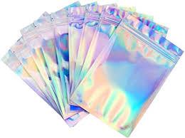 Amazon.com: <b>50PCS Holographic</b> Foil Pouch Bags Flat Ziplock Bag ...