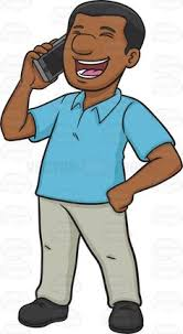 Image result for black guy telephone clipart