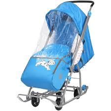 """<b>Санки</b>-<b>коляска Ника """"Disney</b> baby-1"""" Долматинец, цвет голубой ..."""