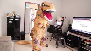 <b>Inflatable T</b>-<b>Rex Dinosaur Costume</b> | Funny