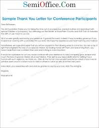 thank you letter sample for participants