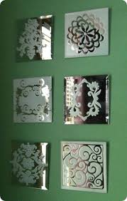 Decorative Frosted Glass Mirrors | Frosted glass spray, <b>Diy</b> wall, Crafts