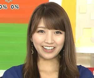 青い服の三田友梨佳