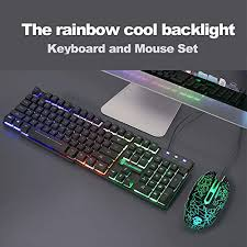 UrChoiceLtd MeiYing <b>T6 Rainbow Backlit</b> Ergonomic <b>Usb</b> Gaming ...