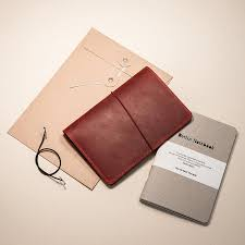 Leather Notebook Cover Red + 2-<b>pack</b> of the <b>original</b> Berlin ...