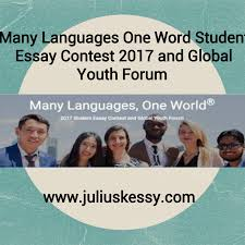 many languages one world student essay contest and global many languages one world student essay contest 2017 and global youth forum