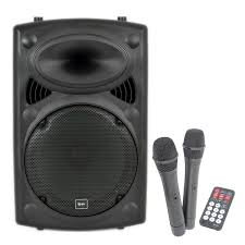 sound system wireless: qtx sound qrpa portable pa system with wireless mics