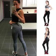 <b>Ladies Sports</b> Gym <b>Sexy</b> Push Up Scrunch Butt Lift Elastic Leggings ...