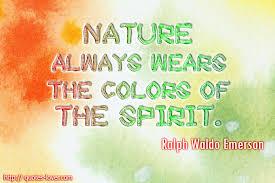Emerson essay nature