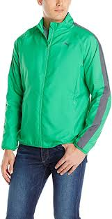 PUMA <b>Men's Woven Jacket</b>, Bright Green/Turbulence, X-Large at ...