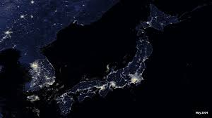 Image result for japan from space