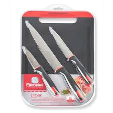 1010 <b>Набор</b> из 3 <b>ножей с разделочной</b> доской Urban Rondell