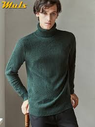 Winter Men <b>Turtleneck Sweater Pullovers Winter</b> Thick High Neck ...