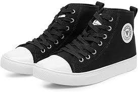<b>Unisex Canvas Shoes</b> High Top Lightweight <b>Flat</b> Espadrilles Lace ...