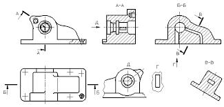<b>Изображения</b> - виды, разрезы, сечения (ЕСКД)