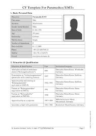 german cv template cv template for paramedicsemts by eatit762 german cv template tk