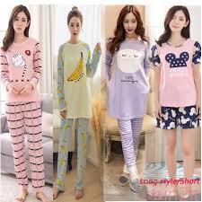 READY STOCK <b>Women Korean Cute Cartoon</b> Printed Long / Shorts ...