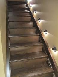 diy stairs basement stairs stairway oh i love these we could do basement stairwell lighting