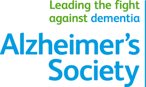 Alzheimer's society ( in blue) leading the fight against dementia(green) and dementia( blue)