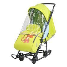 <b>Санки</b>-<b>коляска Ника Disney</b> Baby 1 (Тигруля лимонный) — купить ...