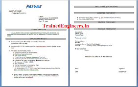 download resumes format for production engineers mechanical jobs resume format for quality engineer