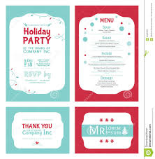 vector winter holiday party invitation set light stock vector vector winter holiday party invitation set light
