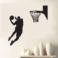 home decor play basketball sports acting cool wall decal nba slam dunk basketball wall mural removable a