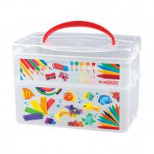 <b>Коробка универсальная</b> с ручкой и декором Art <b>Box</b> 2 секции ...