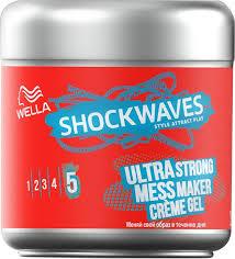 <b>Крем</b>-<b>гель для волос</b> Wella Shockwaves Ultra Strong Mess Maker ...