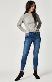 Mavi Women's Adriana <b>Ankle</b> Super <b>Skinny</b> in <b>Used</b> Shaded Tribeca ...