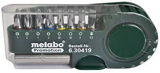 "<b>Набор бит</b> ""<b>Metabo</b>"", 9 предметов"